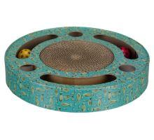 Škrabací bubínek s hračkami 33 cm modrý