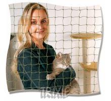 Ochranná síť pro kočky 8x3 m černá