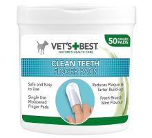 VET´S BEST Čisticí utěrka na zuby pro psy, 50ks