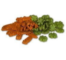 CARROT CLOVER MIX - mrkvičky a čtyřlístky pro hlodavce 1 kg