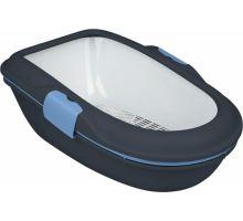 WC BERTO - dvojitá nádoba se sítem 59x39x22 cm  - tm.šedá/pastel