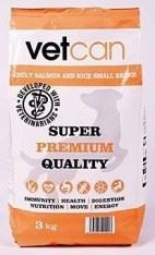 Vetcan Adult Salmon&Rice Small Breed 3kg