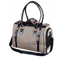 Cestovní taška TALIA, písková s černým lemováním 38x23x28 cm