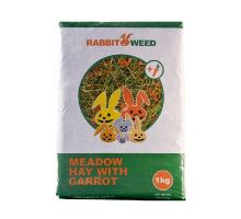 Seno luční s mrkví RabbitWeed 1kg 40 l
