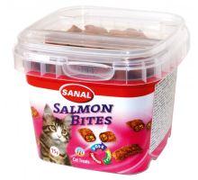 SANAL SALMON BITES - křupavé polštářky s lososem 75 g