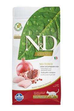 N&D PRIME CAT Neutered Chicken & Pomegranate