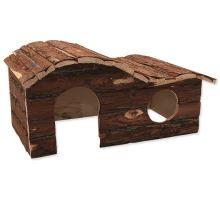 Domek SMALL ANIMAL Kaskada dřevěný s kůrou 43 x 28 x 22 cm 1ks