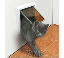 Dvířka kočka plast Bílá 4P Freecat DeLuxe Trixie