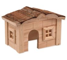 Domek SMALL ANIMAL dřevěný jednopatrový 20,5 x 14,5 x 12 cm 1ks