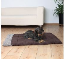 Cestovní deka RORY hnědá s proužky 100 x 70 cm