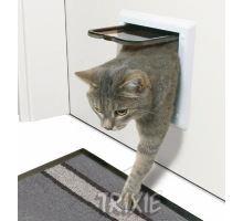 Dvířka kočka plast Bílá 2P Freecat Classic Trixie