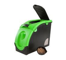 Zásobník na granule pro 13 kg krmiva černo-zelený Mael