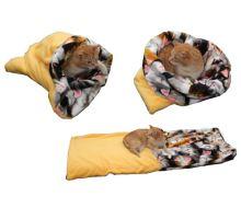Pelíšek pro kočky XL - žlutá/kočky VÝPRODEJ