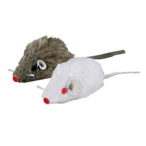 Mini - Mouse bílá, šedá myš 5 cm VÝPRODEJ