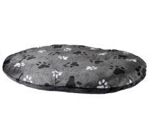 Oválný polštář GINO šedý s packami