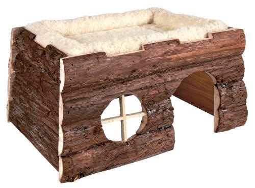 Natural Living přírodní dřevěný dům TILDE 39x22x29 cm