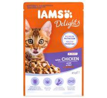 IAMS kitten delights chicken in gravy 85g kapsička