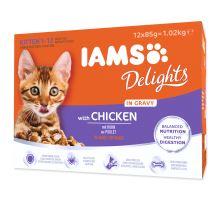 IAMS kitten delights chicken in gravy multipack 1020g