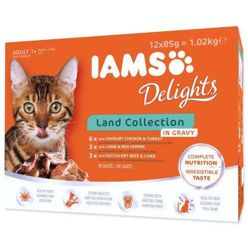 IAMS výběr ze suchozemských mas v omáčce multipack 1020g