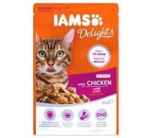 IAMS cat senior delights chicken in gravy 85g kapsička