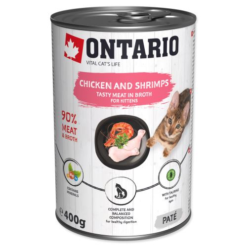 ONTARIO kitten chicken, shrimp, rice and salmon Oil 400g