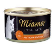 MIAMOR Feine Filets tuňák + křepelčí vejce v želé 100g