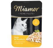 MIAMOR Feine Filets kuře + tuňák v želé 100g