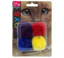 MAGIC CAT míček bavlněný s catnipem 3,75 cm 4ks