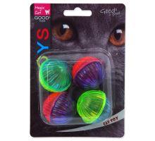 MAGIC CAT míček lesklý plastový chrastící 3,75 cm 4ks