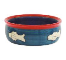 MAGIC CAT keramická miska s rybkou 12,5 cm 1ks