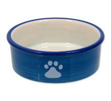 MAGIC CAT keramická miska kočičí tlapka modrá 12,5 cm 1ks