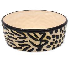 DOG FANTASY keramická miska hnědo-černá 21,5 cm 1700ml