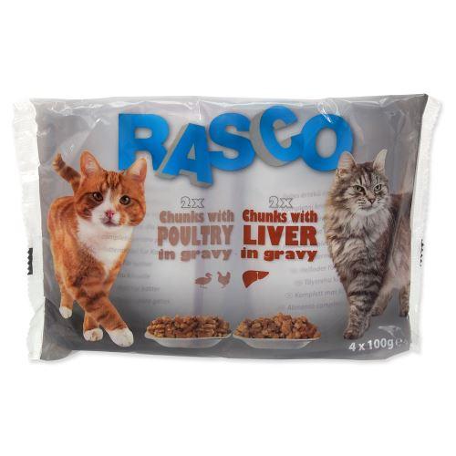RASCO Cat Multipack s drůbeží /s játry 4 x 100g 400g