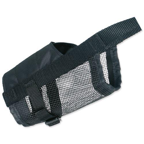 Náhubek nylonový se síťkou, polyester, černý L-XL (doga)